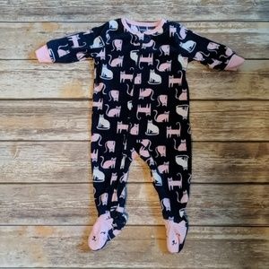 Cats! Carter's 6 month zip up onesie kitty cats